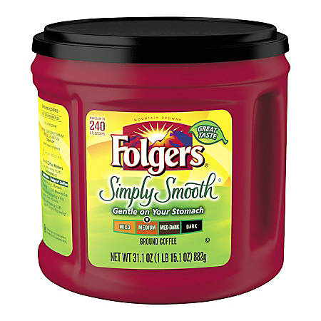 Folgers® Simply Smooth Coffee, 31.1 Oz Canister
