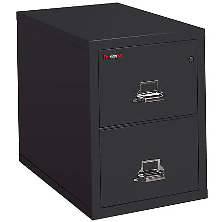 """FireKing® UL 1-Hour Vertical File, 2 Drawers, Legal Size, 27 3/4""""H x 20 7/8""""W x 31 5/8""""D, Black, White Glove Delivery"""