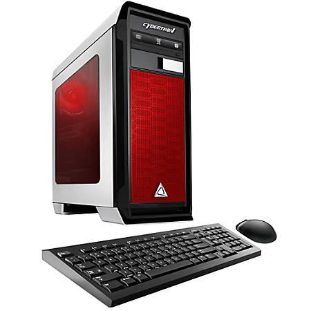 CybertronPC Rhodium RX-460H Desktop PC, AMD FX Octa-Core, 16GB Memory, 1TB Hard Drive/240GB Solid State Drive, Windows® 10, Radeon RX 460