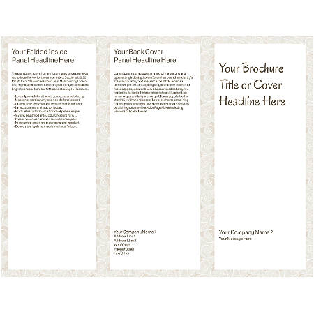 Customizable Trifold Brochure, Abstract Design