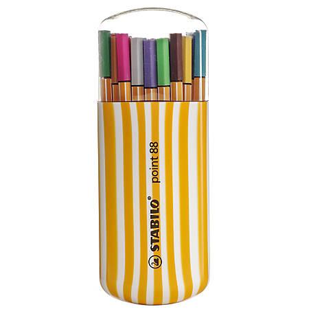 Stabilo Point 88 Pens, Zebrui, 20 Pens Per Set, Pack Of 2 Sets