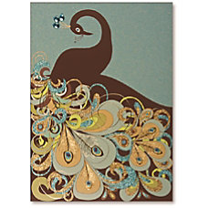 Viabella Blank Note Greeting Card Peacock