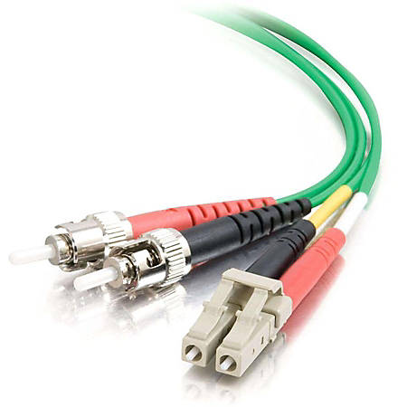 C2G-1m LC-ST 62.5/125 OM1 Duplex Multimode Fiber Optic Cable (Plenum-Rated) - Green