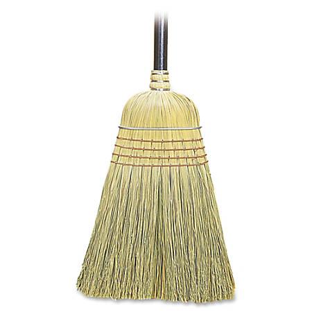 "Genuine Joe Warehouse Broom - Corn Fiber Bristle38"" Length Lacquered Wood Handle - 57"" Overall Length - 6 / Carton"
