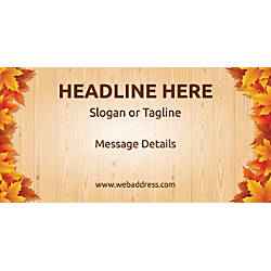 Custom Horizontal Banner Autumn Leaves 1