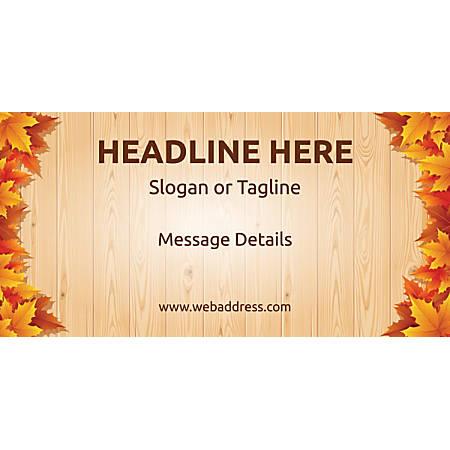 Custom Horizontal Banner, Autumn Leaves 1