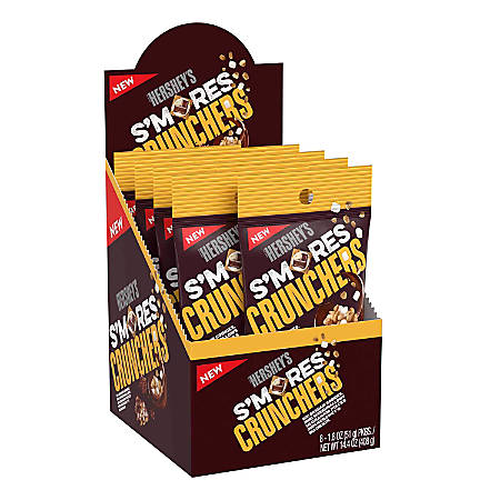 Hershey's® S'mores Crunchers, 1.8 Oz, Box Of 8 Tubes
