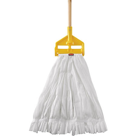 Rubbermaid Commercial Disposable Mop - Disposable - 24 / Carton - White