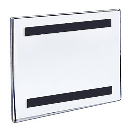 """Azar Displays Magnetic Sign Holders, 5-1/2"""" x 5-1/2"""", Clear, Pack Of 10 Holders"""