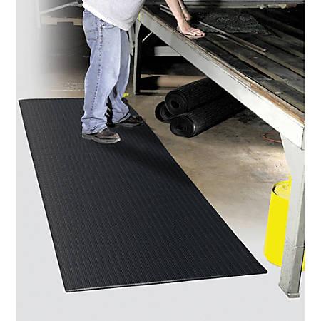 """Realspace® Anti-Fatigue Vinyl Floor Mat, 27"""" x 36"""", Charcoal"""