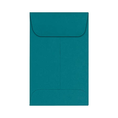 """LUX Coin Envelopes, #1, 2 1/4"""" x 3 1/2"""", Teal, Pack Of 1,000"""