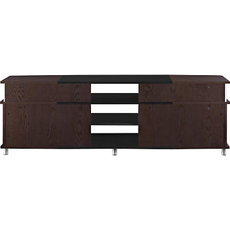"""Ameriwood™ Home Carson TV Stand For 70"""" Flat-Screen TVs, Cherry/Black"""
