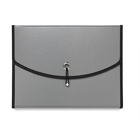 "Office Depot® Brand 7-Pocket Expanding File, 7"" Expansion, Letter Size, Silver"