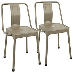 LumiSource Energy Chairs CappuccinoCappuccino Set Of