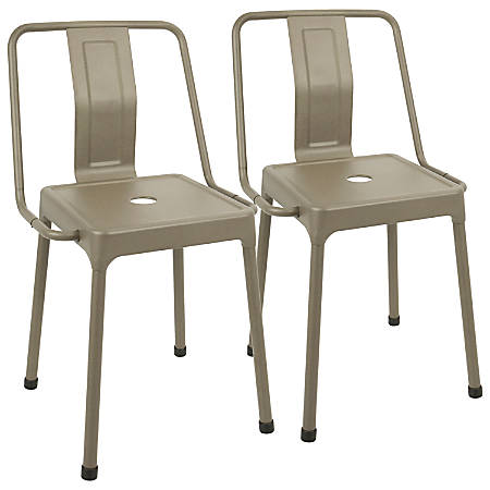 LumiSource Energy Chairs, Cappuccino/Cappuccino, Set Of 2