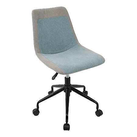 Lumisource Orzo Task Chair, Blue/Gray with Black Frame