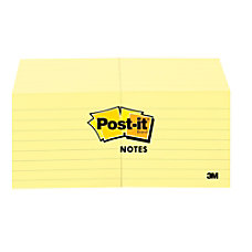 Post it Notes Lined 3 x
