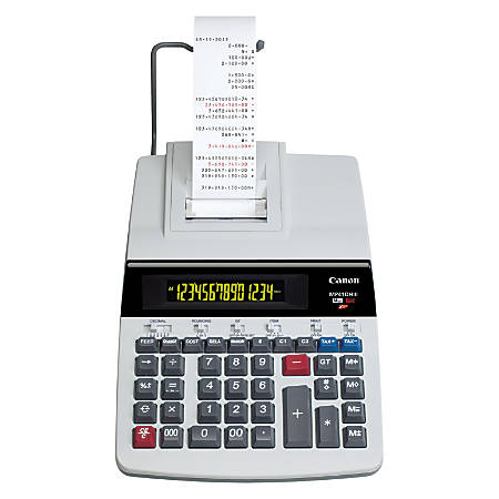 Canon MP41DHIII Printing Calculator, Black/Red