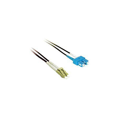 C2G-2m LC-SC 50/125 OM2 Duplex Multimode PVC Fiber Optic Cable - Black - Fiber Optic for Network Device - LC Male - SC Male - 50/125 - Duplex Multimode - OM2 - 2m - Black