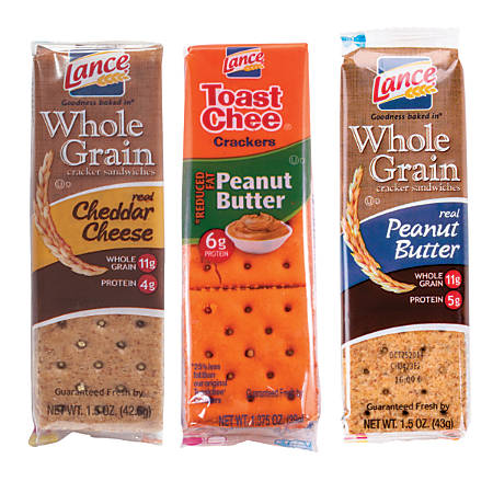 Lance® Better For You Cracker Sandwiches Variety Pack, 2.35 Lb, 6 Crackers Per Pack, 24 Packs Per Box