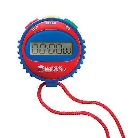 Learning Resources Simple Stopwatch, Assorted Colors, Pack Of 2