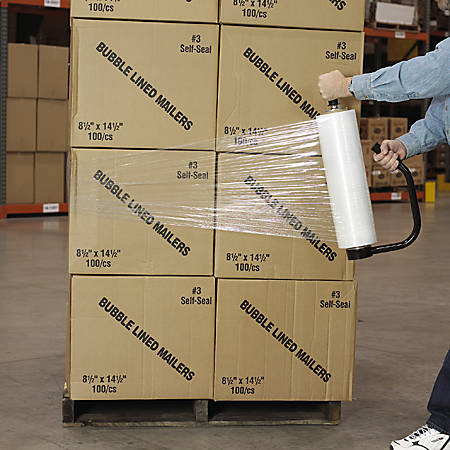 """Office Depot® Brand Cast Clear Hand Stretch Film, 70 Gauge, 15"""" x 1500', Pack Of 4"""