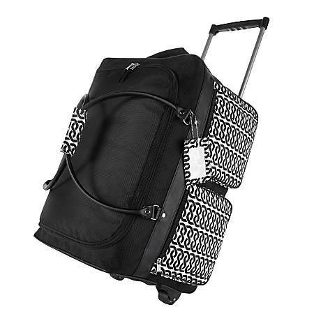 GNBI Rolling Duffel Bag, Black/White