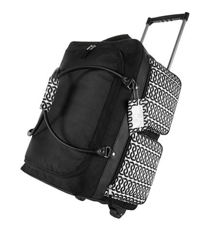 Gnbi Rolling Duffel Bag Black White Item 442742