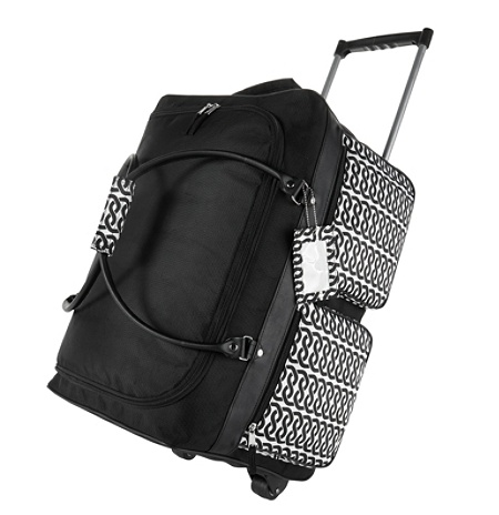 d4b8a4c62 GNBI Rolling Duffel Bag, Black/White. Use + and - keys to zoom in and out,  arrow keys move the zoomed portion of the image