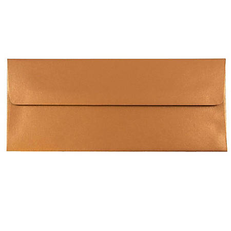"JAM Paper® Business Booklet Envelopes, #10, 4 1/8"" x 9 1/2"", Copper, Pack Of 25"
