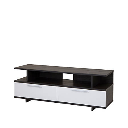 """South Shore Reflekt TV Stand With Drawers For TVs Up To 60"""", Gray Oak/Pure White"""