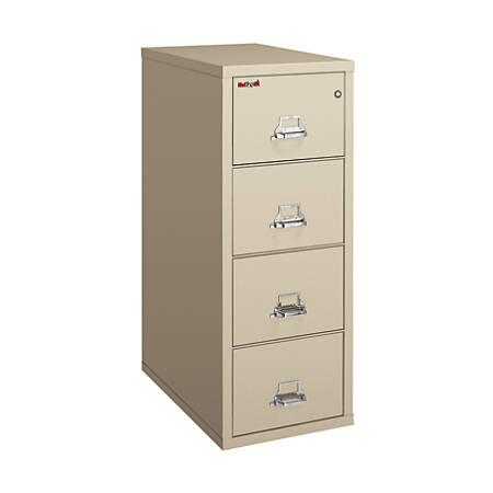 "FireKing® UL 1-Hour Vertical File, 4 Drawers, Legal Size, 52 3/4""H x 20 7/8""W x 31 5/8""D, Platinum, White Glove Delivery"