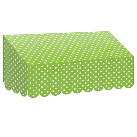 """Teacher Created Resources Classroom Awning, 12 1/2""""H x 24""""W x 8""""D, Lime Polka Dots"""