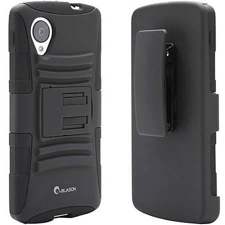 i-Blason Prime NEX5-PRIME-BLACK Carrying Case (Holster) Smartphone - Black - Silicone - Swivel Clip