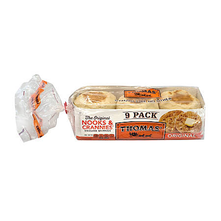 Thomas Original English Muffins, 9 Muffins Per Box, Pack Of 2 Boxes