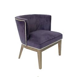 Boss Ava Accent Chair Deep PurpleDriftwood