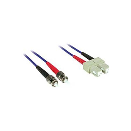 C2G-2m SC-ST 62.5/125 OM1 Duplex Multimode Fiber Optic Cable (Plenum-Rated) - Blue