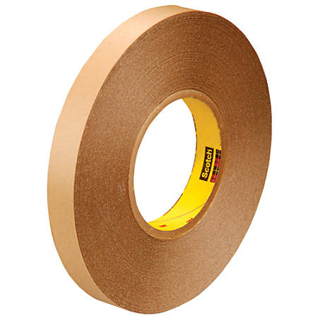"3M™ 9425 Removable Double-Sided Tape, 3"" Core, 0.75"" x 216', Clear, Pack Of 2"