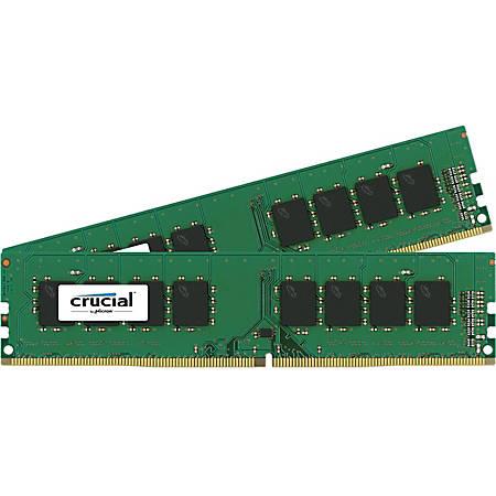 Crucial 8GB (2 x 4 GB) DDR4 SDRAM Memory Module - 8 GB (2 x 4 GB) - DDR4-2400/PC4-19200 DDR4 SDRAM - CL17 - 1.20 V - Non-ECC - Unbuffered - 288-pin - DIMM