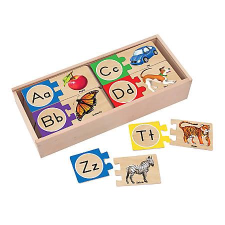 Melissa & Doug Letter Puzzles, Pre-K To Kindergarten, Pack Of 26