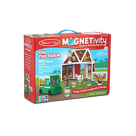 Melissa & Doug Pretend Play Educational Toys, Magnetivity On The Farm Building Set