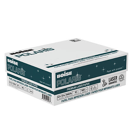 Boise POLARIS® Premium Laser Paper, Legal Paper Size, 98 Brightness, 24 Lb, FSC® Certified, 500 Sheets Per Ream, Case Of 6 Reams