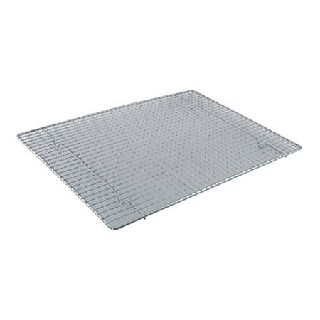 Winco Chrome-Plated Wire Grate Cooling Rack, Half-Size, Silver