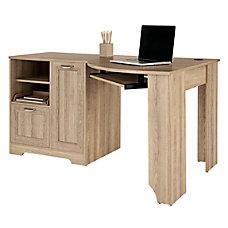 Realspace Magellan Corner Desk Blonde Ash
