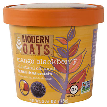 Modern Oats™ Oatmeal Cups, Mango Blackberry, 2.6 Oz, Pack Of 12
