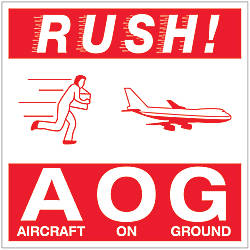 Tape Logic Preprinted Labels Rush AOG