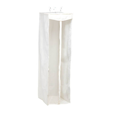 """Honey-Can-Do Long Hanging Storage Closet, 54""""H x 20""""W x 19""""D, Clear/White"""