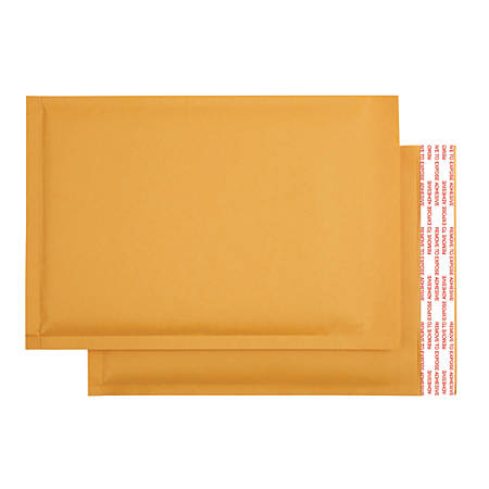 "Office Depot® Brand Self-Sealing Bubble Mailers, Size 0, 6"" x 9"", Pack Of 12"