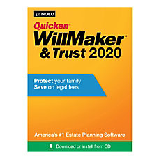 Quicken WillMaker Trust 2020 For PCMac