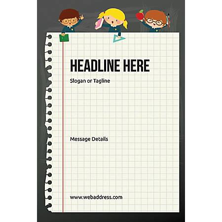Custom Poster, Notebook, Vertical